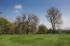 Park and golf course in Ada Ciganlija Royalty Free Stock Photo