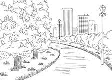 Park graphic black white chestnut tree blooms landscape sketch illustration vector. Park graphic black white chestnut tree blooms landscape sketch vector vector illustration