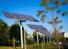 Park green energy solar power system Stock Photos