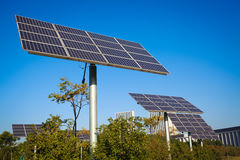 Park green energy solar power system Stock Image