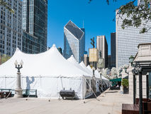 Park Grill set up in Millennium Park, Chicago Royalty Free Stock Photo