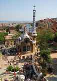 Park Guel in Barcelona. Parc Guell Barcelona, one of Antoni Gaudi design stock photos