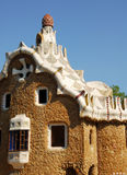 Park Guel in Barcelona. Parc Guell Barcelona, one of Antoni Gaudi design stock photo