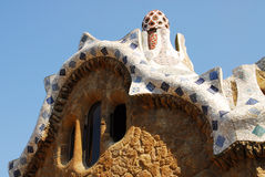 Park Guel in Barcelona. Parc Guell Barcelona, one of Antoni Gaudi design royalty free stock images