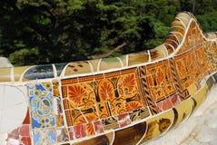 Park Guel in Barcelona stock photos