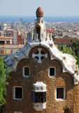 Park Guel in Barcelona. Parc Guell Barcelona, one of Antoni Gaudi design, september 2009 stock photos