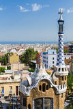 Park Guel, Barcelona. Very nice roofs in park Guel, Barcelona. Catalonia, Spain stock photography