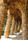 Park Guell. Columns in Park Guell, Barcelona, Spain Stock Image