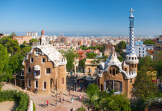 Park Guell. BARCELONA, SPAIN - AUGUST 26: The famous Park Guell on August26, 2010 in Barcelona, Spain. The impressive and famous park was designed by Antoni Stock Images