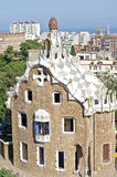 Park Guell. Famous house of Gaudi in the Park Guell - Barcelona, Spain Royalty Free Stock Photos