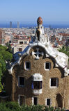 Park Guell. In Barcelona (Spain Stock Images