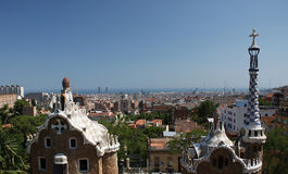 Park Guell. Famous park Guell in Barcelona,Spain Royalty Free Stock Photo