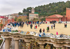 Park Guell. Royalty-vrije Stock Foto's