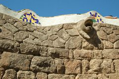 Park Guell. The Park Guell is a public park in the city of Barcelona. The development project was commissioned by Eusebi Guell, patron of the architect Antoni stock images