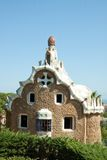 Park Guell. The Park Guell is a public park in the city of Barcelona. The development project was commissioned by Eusebi Guell, patron of the architect Antoni royalty free stock photos