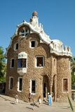 Park Guell. The Park Guell is a public park in the city of Barcelona. The development project was commissioned by Eusebi Guell, patron of the architect Antoni royalty free stock photography