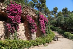 Park Guell by Antoni Gaudi, Barcelona, Spain Stock Photo