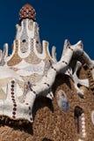 Park Guell Antoni Gaudi Barcelona Spanje Royalty-vrije Stock Foto's