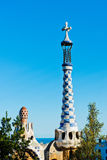 Park Guell by Antonio Gaudi in Barcelona. Spain royalty free stock image