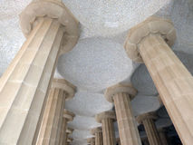 Park Guell. Arcade in Park Guell in Barcelona, Spain Stock Photos