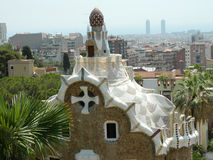 Park Guell by architect Antoni Gaudi Royalty Free Stock Images