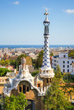 Park Guell by architect Antoni Gaudi, Barcelona, Spain Royalty Free Stock Images