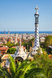 Park Guell by architect Antoni Gaudi, Barcelona, Spain royalty free stock photography