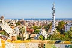 Park Guell by architect Antoni Gaudi, Barcelona, Spain royalty free stock photos
