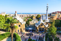 Park Guell by architect Antoni Gaudi, Barcelona, Spain royalty free stock image