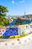 Park Guell by architect Antoni Gaudi, Barcelona, Spain royalty free stock photo