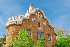 Park Guell by architect Antoni Gaudi in Barcelona Stock Photos