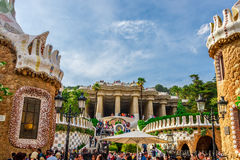 Park Guell by architect Antoni Gaudi in Barcelona Royalty Free Stock Photography