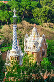 Park Guell by architect Antoni Gaudi in Barcelona Stock Images