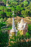 Park Guell by architect Antoni Gaudi in Barcelona Stock Image