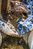 Park Guell by architect Gaudi in Barcelona, Spain. Royalty Free Stock Photography