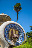 Park Guell by architect Gaudi in Barcelona, Spain. Stock Photos
