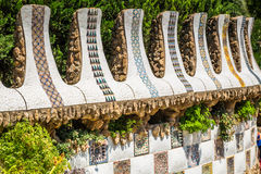 Park Guell by architect Gaudi in Barcelona, Spain. Royalty Free Stock Images