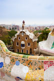 Park Guell by architect Gaudi in Barcelona, Spain. Royalty Free Stock Photos