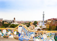 Park Guell by architect Gaudi in Barcelona, Spain. Stock Images