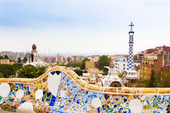 Park Guell by architect Gaudi in Barcelona, Spain. Park Guell by architect Antonio Gaudi in Barcelona, Spain Stock Image