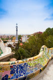 Park Guell by architect Gaudi in Barcelona, Spain. Stock Image