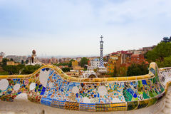 Park Guell by architect Gaudi in Barcelona, Spain. Park Guell by architect Antonio Gaudi in Barcelona, Spain royalty free stock photography