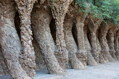 Park Guell Architecture by Antoni Gaudi in Barcelona Royalty Free Stock Photo