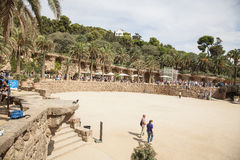 Park Guell Architecture by Antoni Gaudi in Barcelona Royalty Free Stock Images
