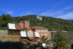 Park Guell architecture,Barcelona city Royalty Free Stock Photos