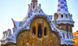 Park Guell Architecture Details of Gaudi. Royalty Free Stock Photo