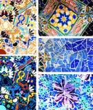 Park Guell. Arkitektoniska detaljer Royaltyfri Bild