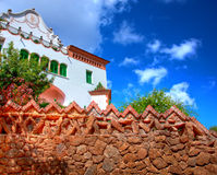 Park Guell, Barcelona. Architecture in Park Guell, Barcelona, Spain Royalty Free Stock Photo