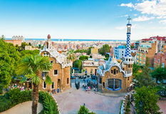 Park Guell in Barcelona royalty free stock image