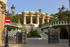 Park Guell in Barcelona Stock Afbeelding